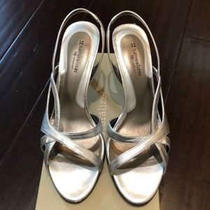 Naturalizer Silver Sling Backs